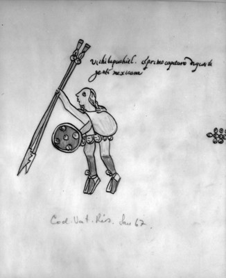 Detalle de la lámina 67 del Códice Ríos o Vaticanus A