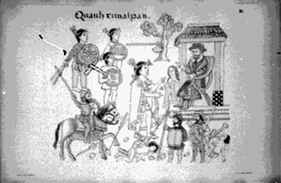 Lámina 20 con la llegada de Cortés a Quauhximalpan, reprografía