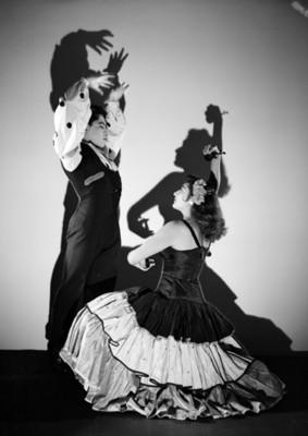Norberto Luna y bailarina