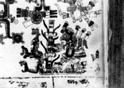 Detalle de la página 49 del Códice Borgia