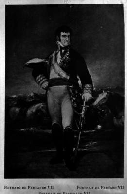 Fernando VII, rey de España, pintura, retrato