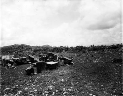Restos arqueológicos en Xochicalco