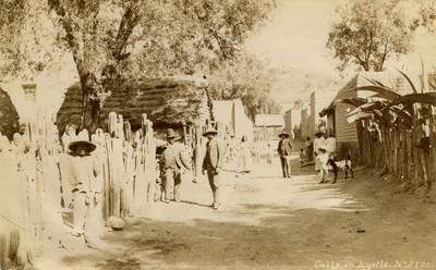Calle en Ayotla, retrato