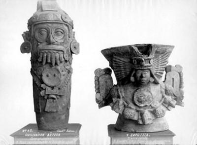 Vaso de Tláloc y brasero de una deidad zapoteca