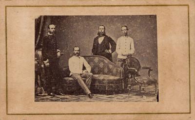Maximiliano de Habsburgo y sus hermanos, tarjeta de visita