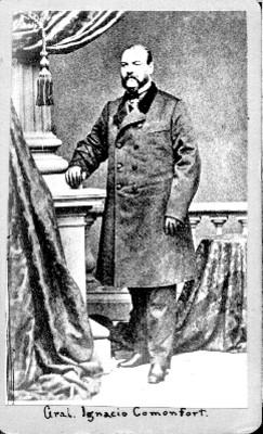 """""""Gral. Ignacio Comonfort"""", tarjeta de visita"""