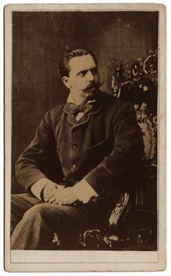 Carlos María de Borbón y Austria-Este, tarjeta de visita