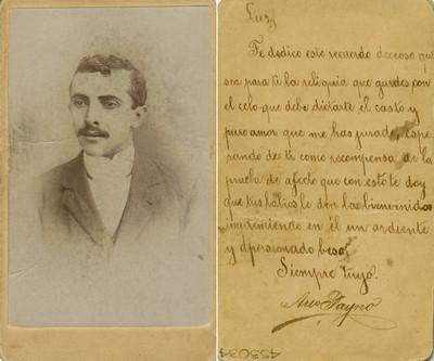 """""""Areo Payno"""", retrato, tarjeta de visita"""