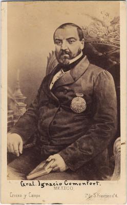 Gral. Ignacio Comonfort, grabado