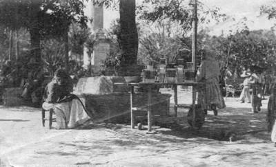 """Puesto de refrescos en la plaza, """"6284. Refreshment stand on the plaza"""""""