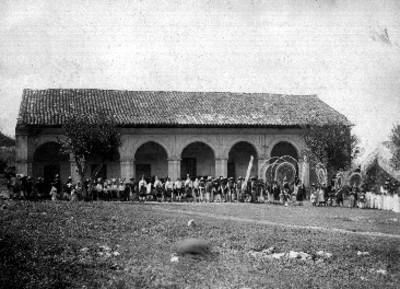 """""""Palacio Municipal del pueblo de Tzinacapan-Cuetzalan"""", exterior, vista general"""