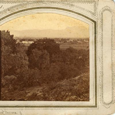 Poblado de Tacubaya, vista desde el castillo de Chapultepec