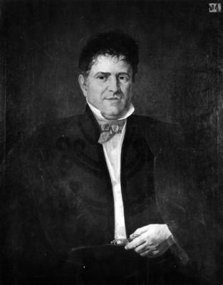 Santa Anna, retrato al óleo