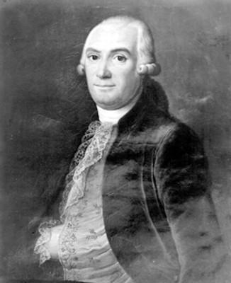 Hombre del periodo virreinal, retrato al óleo