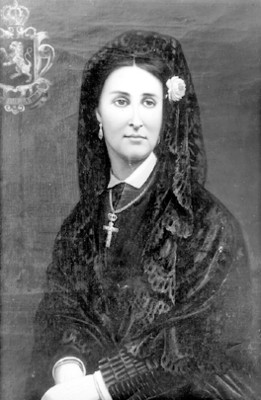 Carlota de habsburgo, retratoal óleo