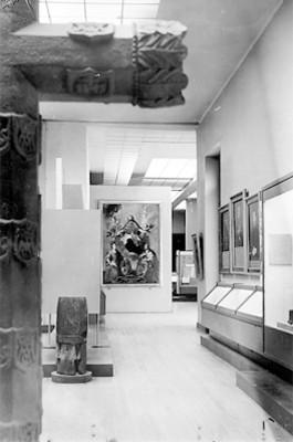 Sala de exhibición del Museo Nacional de Historia, vista parcial