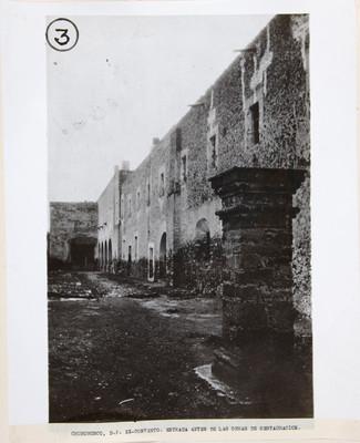 Churubusco, D.F. Ex-convento. Entrada antes de las obras de restauración
