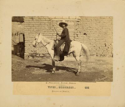 """Hombre a caballo, """"tipos mexicanos"""""""