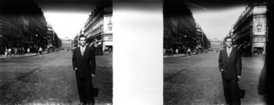 Hombre en una calle, retrato