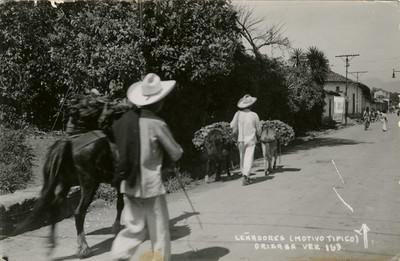 """""""Leñadores (motivo típico)"""", tarjeta postal"""