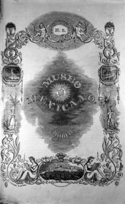 """Portada del libro """"museo Mexicano. Tomo II"""""""