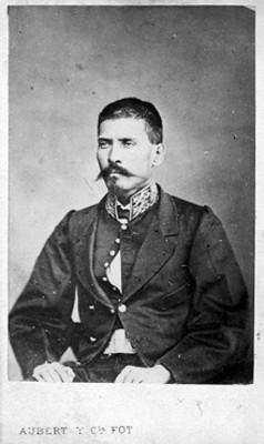 """""""Porfirio Díaz"""" retrato, tarjeta de visita"""