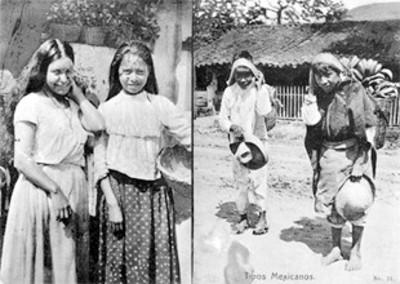 """Mujeres con canastas y cargadores, """"tipos populares"""", tarjeta postal"""