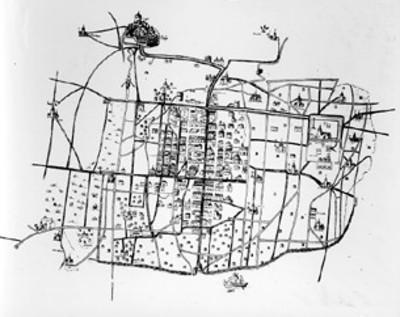 Mapa de la Ciudad de México colonial