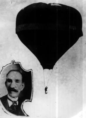 Joaquin de la Cantolla y Rico en un globo aerostático
