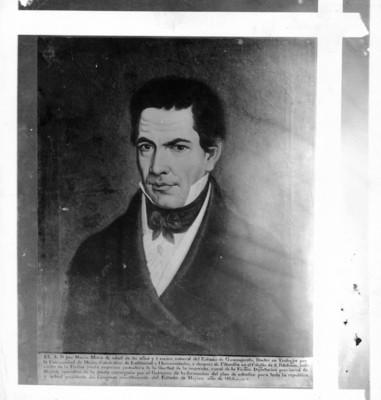Retrato de José María Mora Luna, reprografía