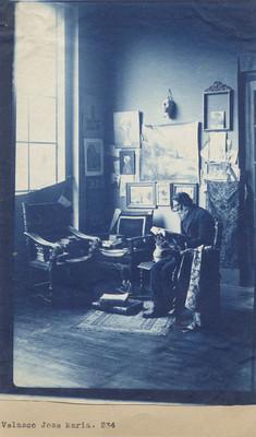 José María Velasco en su estudio