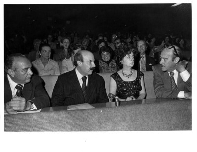 Carlos González Parrodi, José Juan de Olloqui, María Emilia Téllez y Luis de la Hidalga durante concierto ofrecido en la Secretaría de Relaciones Exteriores