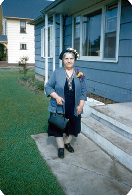 Mujer mayor, retrato