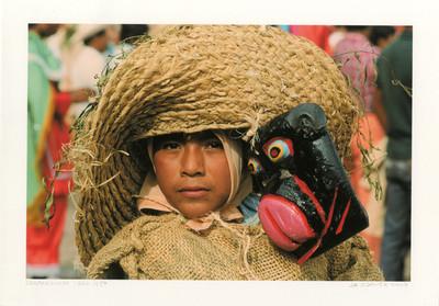 """""""Chilpancingo Gro. 1987"""" nativo con indumentaria de ixtle"""