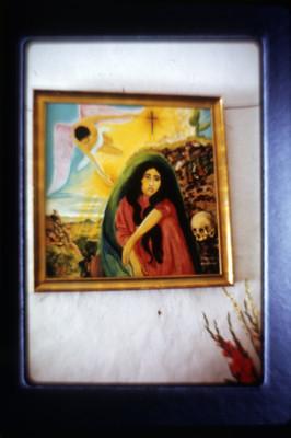 Pintura dentro de la iglesia de Amatlán