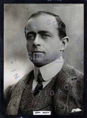 """Robert Falcón """"Scott"""", explorador inglés, retrato"""