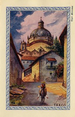 """Taxco"", arriero, tarjeta postal"