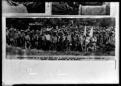 """""""El Coronel González Salas"""" y su ejército con """"los guerreros yaquis"""" en la sierra del Bacatete"""