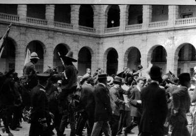 Francisco I. Madero a su llegada a Palacio Nacional
