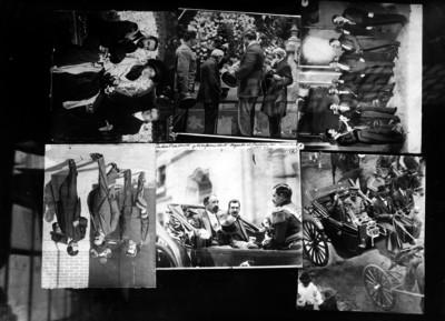 Mosaico fotográfico de las actividades de Francisco I. Madero
