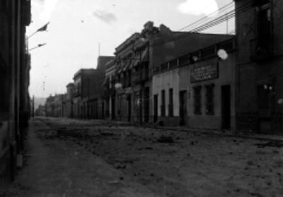 Calle de Nuevo México durante el sitio a la Ciudadela