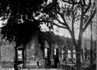 Tienda de José A. Montemayor en ruinas