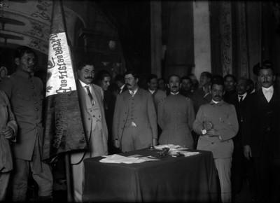 Eulalio Gutiérrez momentos antes de protestar como Presidente Provisional de la República