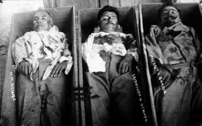 Cadáveres de los generales Manuel M. Diéguez, Alfredo C. García N Ocampo