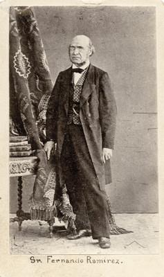 """José """"Fernando Ramírez"""", retrato de pie"""