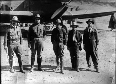 Aviadores, retrato de grupo