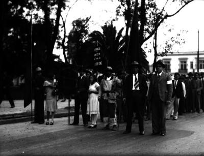 Manifestación de los trabajadores del Distrito Federal