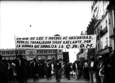 Trabajadores durante una manifestación