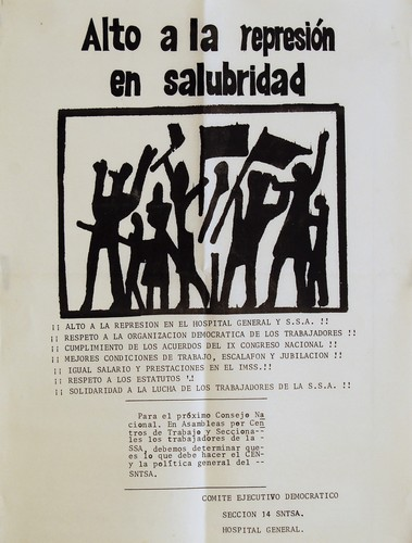 Alto a la represión en salubridad (Dos ejemplares)