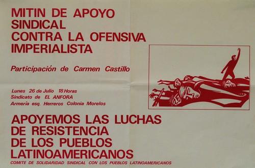 Mitin de apoyo sindical. Contra la ofensiva imperialista. (Tres ejemplares)